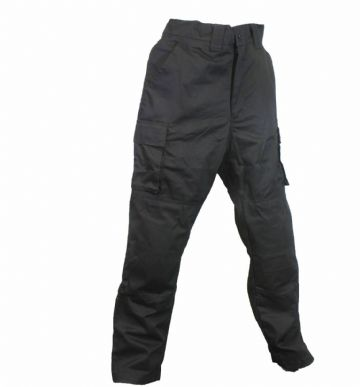 Qtech Race Motorcycle Motorbike Cargo Pants Jeans with Knee & Hip Armour - Black